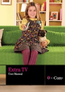 User Manual. Extra TV user manual