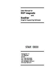 User Manual for DST magnetic. SeaStar