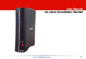 User Manual. HD-CELU2 DriveStation FlexNet.  v1.1
