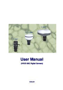 User Manual (HDCE-30C Digital Camera)