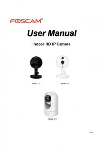 User Manual. Indoor HD IP Camera. Model: R2 V1.4
