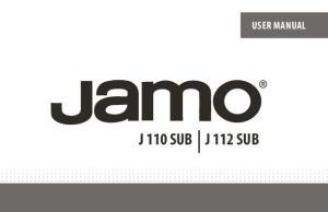 USER MANUAL J 110 SUB J 112 SUB