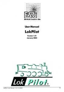 User Manual. LokPilot. Version 1.01 January 2002