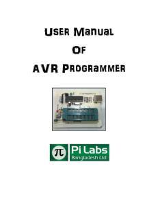 User Manual Of AVR Programmer