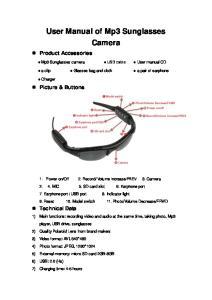 User Manual of Mp3 Sunglasses Camera
