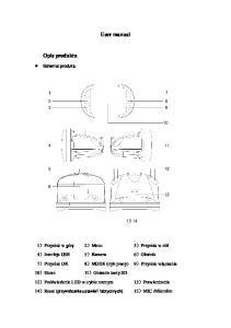 User manual. Opis produktu