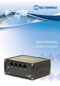 USER MANUAL. RUT950 LTE Router