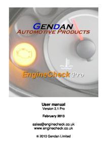 User manual Version 3.1 Pro