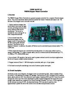 USER MANUAL W8ZR Stepper Motor Controller