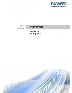 User Manual. webconnect. Version Aug 2014