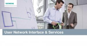 User Network Interface & Services