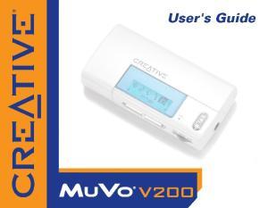 User s Guide. Creative MuVo V200