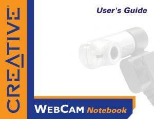 User s Guide. Creative WebCam Notebook