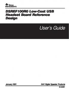 User s Guide. DAV Digital Speaker Products SLAU064