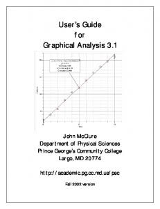 User s Guide for Graphical Analysis 3.1