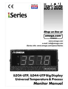 User s Guide. Monitor Manual. ild24-utp, ild44-utp Big Display Universal Temperature & Process USA. Shop on line at
