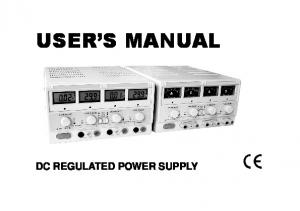 USER S MANUAL DC REGULATED POWER SUPPLY