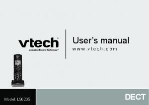 User s manual DECT.  Model: LS6205