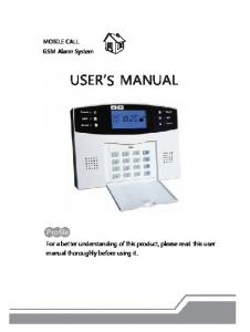 USER S MANUAL. Profile. MOBILE CALL GSM Alarm System