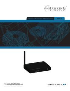 USER S MANUAL. Wireless-N Multifunction USB Device Server. website