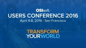 USERS CONFERENCE Copyright 2016 OSIsoft, LLC