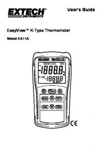 User's Guide. EasyView K-Type Thermometer. Model EA11A
