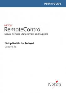 USER'S GUIDE Netop Mobile for Android