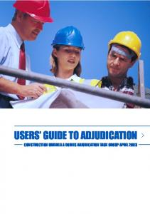 USERS GUIDE TO ADJUDICATION