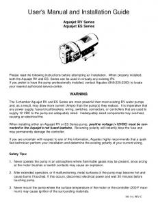 User's Manual and Installation Guide