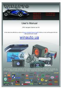 User's Manual. GPS navigator Garmin nuvi 50