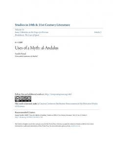 Uses of a Myth: al-andalus