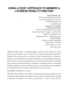 USING A FUZZY APPROACH TO MINIMIZE A LATENESS PENALTY FUNCTION