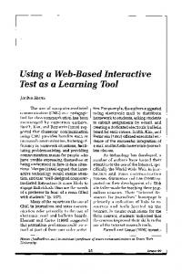 Using a Web-Based Interactive Test as a Learning Tool