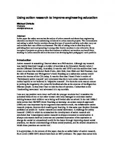 Using action research to improve engineering education