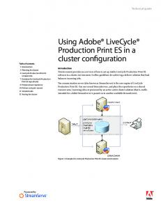 Using Adobe LiveCycle Production Print ES in a cluster configuration