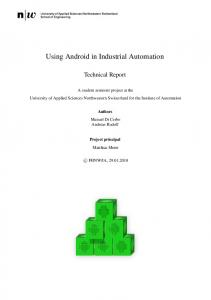 Using Android in Industrial Automation