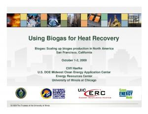 Using Biogas for Heat Recovery