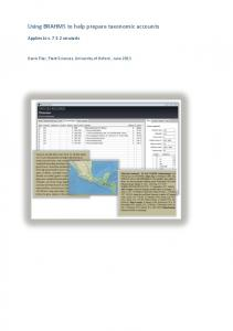 Using BRAHMS to help prepare taxonomic accounts