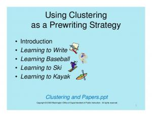 Using Clustering as a Prewriting Strategy