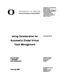 Using Collaboration for Successful Global Virtual Team Management