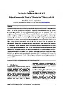 Using Commercial Electric Vehicles for Vehicle-to-Grid