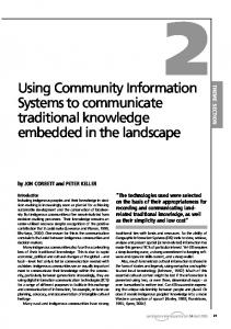 Using Community Information Systems to communicate traditional knowledge embedded in the landscape