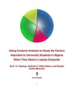 Using Conjoint Analysis to Study the Factors Important to University Students in Nigeria When They Select a Laptop Computer