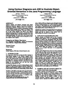 Using Contour Diagrams and JIVE to Illustrate Object- Oriented Semantics in the Java Programming Language