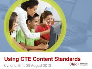 Using CTE Content Standards