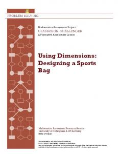 Using Dimensions: Designing a Sports Bag