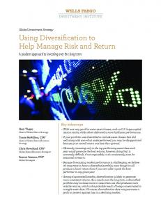 Using Diversification to Help Manage Risk and Return