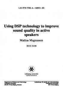 Using DSP technology to improve sound quality in active speakers