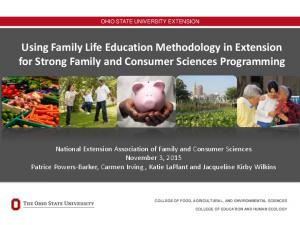 Using Family Life Education Methodology in Extension for Strong Family and Consumer Sciences Programming