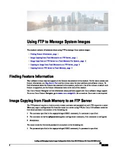 Using FTP to Manage System Images